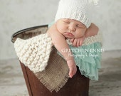 Little knit newborn hat with ears - you choose the color