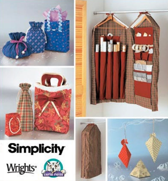 Sewing Room Gift Wrapping Room: WRAPPING PAPER ORGANIZER Sewing Pattern Christmas Gift