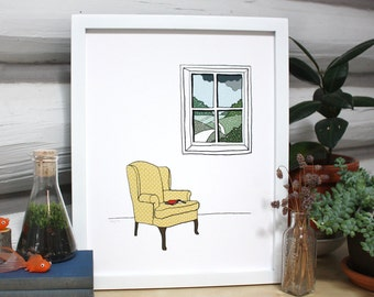 Armchair by the Window print