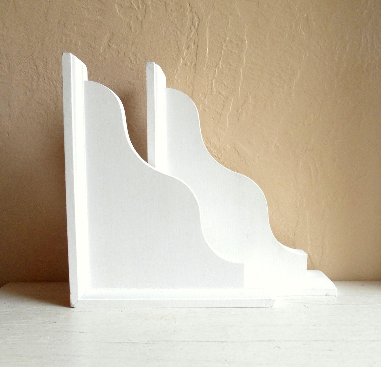 white curved decorative wood corbel corner bracket by. Black Bedroom Furniture Sets. Home Design Ideas