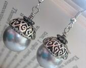 Silver Candied Acorns - Earrings