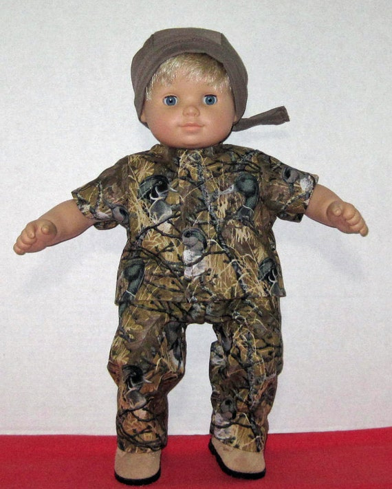 Bitty Baby Doll Clothes Duck Camouflage Set Boots by