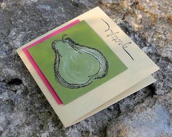 Grateful Pear Gift Enclosure Card - Warm Saffron Yellow