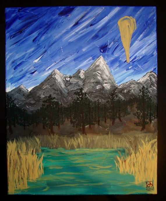 Life's Mountains - Acrylic on Canvas 16x20