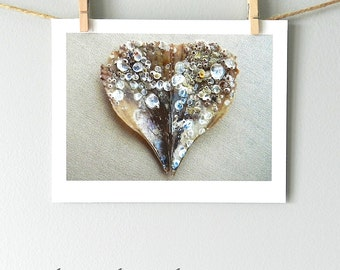 Seashell Photography, Sea Shell Print Beach Decor, Nature Photography, Neutral Decor, Coastal Decor, Shell Art Print, Heart Art, Heart Print