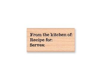 From the kitchen of-recipe stamp-Wood Mounted Rubber Stamp (MCRS 23-18)