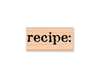recipe-Wood Mounted Rubber Stamp (MCRS 23-21)