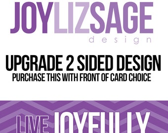 Upgrade your Invitation or Photocard to a 2 sided Design