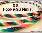 GaLaXy GLOW 3-Set! - GLoW In The DARK Hula Hoop AND Mini Twins 3-Set.  Over 19,000 Hoops SoLd.