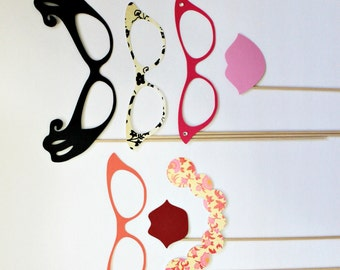 Photo Booth Props. Sorority Sisters Photo booth Props. Rush. Little Retreats Set of Seven