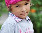 Pink Crochet Newsboy Cap, Toddler Newsboy Hat, Baby Boy Beanie With Brim, MADE TO ORDER, Think Pink