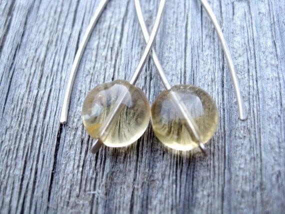 citrine earrings. yellow jewelry. November birthstone jewellery
