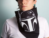 Roller Derby Bandana, Boba Fett, Star Wars, Boutfit, Necklace, Scarf, Mask