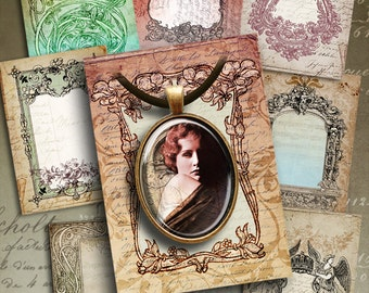 Printable ANTIQUE STYLE LABELS No3 Jewellery Holders Digital Collage Sheet Printable 2.5x3.5 inch size Hang Tags Vintage Paper goods