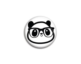 Diego the Nerdy Panda Pinback Button