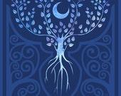 Tree of the Ancestors - 8x8 inch fantasy tree motif illustration