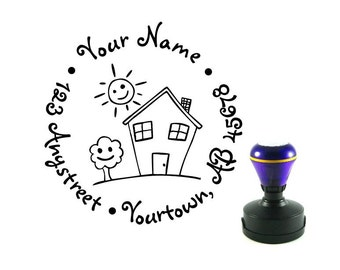 Personalized Self Inking Return Address Stamp - Wedding Gift, Bridal Shower Gift, Realtor Gift, Housewarming Gift, Christmas gift R86