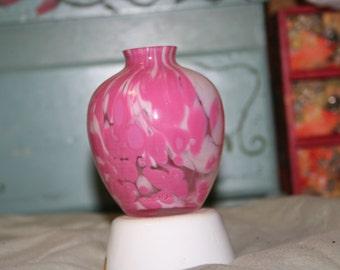 Pink Art Glass Vase