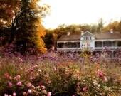 Large Wall Art Garden Flower Photo Architecture Photo Landscape Nature Domaine Joly-De Lotbinière Quebec 24x36 PRINT - Romancing Summer