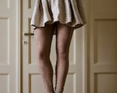 Sand Lace Leggings, Beige Tights, available in plus sizes - karmologyclinic