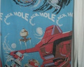 RARE Vintage The Black Hole 1979 Flat Bed Sheet  Walt Disney Productions