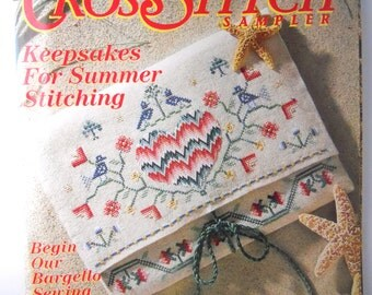 CROSS STITCH SAMPLER magazine, Beatrix Potter patterns, summer keepsakes patterns
