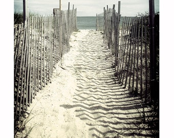 Beach Photography, Cape Cod Photography, ocean photograph, Nautical, seaside wall art, New England, sand surf summer, Beach walkway, Coastal