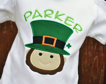 Leprechaun Shirt - Kids Leprechaun Shirt - Personalized - St Patricks Day Shirt - St Paddys Day - Boys Shirt - Irish Shirt - St Patrick's