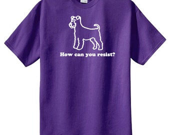 Miniature Schnauzer How Can You Resist TShirt