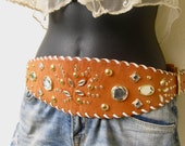 Issac Mizrahi Vintage Faux Jeweled Bohemian Belt FREE USA SHIPPING