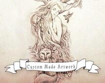 Custom Art Booking DEPOSIT for Your Portrait - Your Fantasy // Custom Made // Personal Fantasy Portrait Artwork