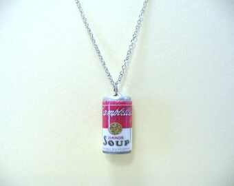 Campbell's Soup Can Necklace