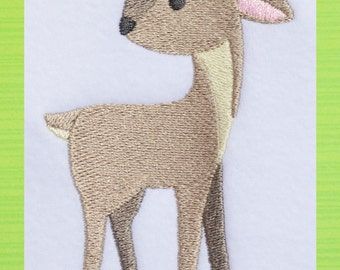 Deer Zoo Animal, INSTANT DOWNLOAD, Embroidery Design for Machine Embroidery 4x4