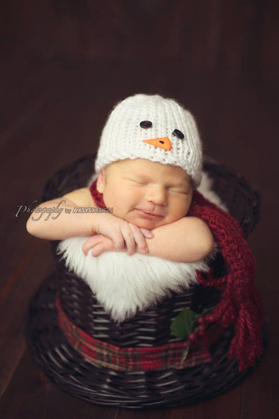 Knitting Pattern For Baby Snowman Hat : Knitting PATTERN Snowman Hat and Scarf Pattern Baby by natalya1905