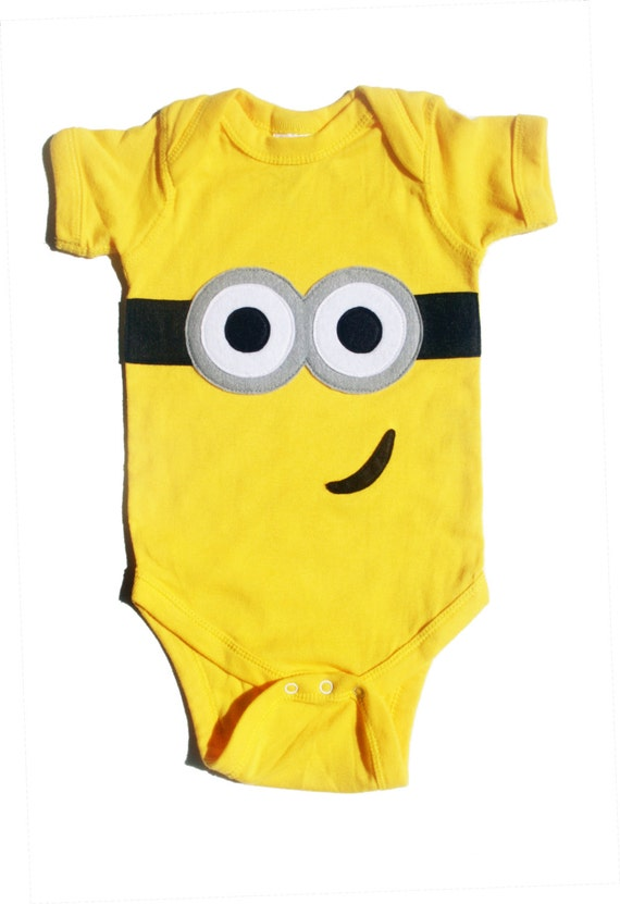 Despicable me yellow minion baby onesie