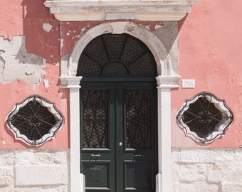 Venice Photography - Faded Elegance, Burano, Italy, Pink Wall Decor, Travel Photography, Home Decor