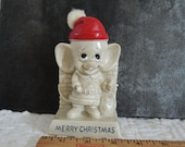 santa Christmas Mouse Figurine 1969 Russ Berrie and Wallace Berrie
