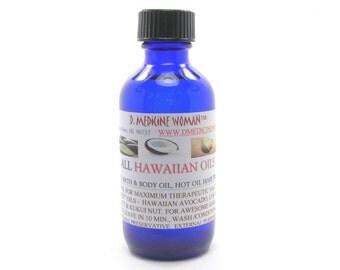 Premium Hawaiian Scented All Hawaiian Oil  Hot Oil Hair Treatment  A Hawaiian Beauty Secret that really works!