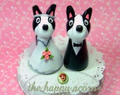 Boston Terrier Wedding Cake Topper - READY TO SHIP