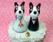Boston Terrier Wedding Cake Topper - READY TO SHIP