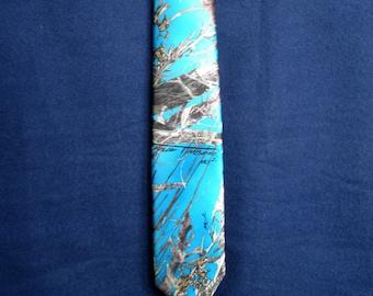 True Timber MC2 Satin Camouflage Necktie Blue