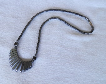 Magnetic Hematite Fan Necklace