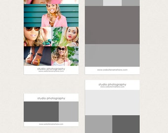 pinterest  or blog photo layouts set of 4 - Instant download