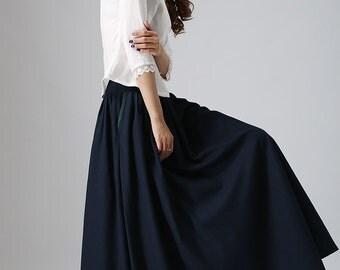 Blue full skirt | Etsy