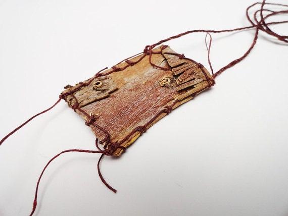 SALE Native American Style Bark Necklace