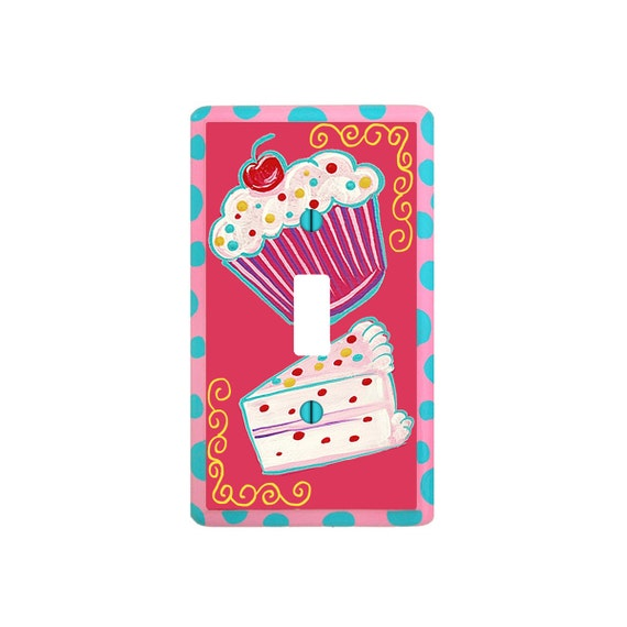 Sugar and Spice CUPCAKE Light Switch Cover