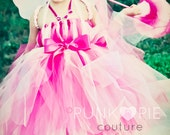 Pink Fairy Costume Tutu Dress for Birthdays & Dress up Infant - 5t