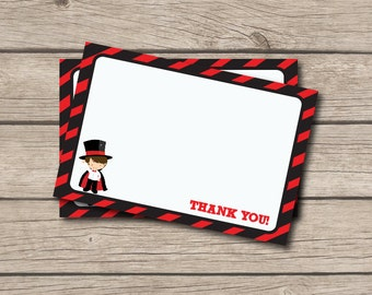 Magician Thank You Note - Magic Thank You Card - Digital Printable Thank You - Magic Party - Magic Thank You Note - Magician Party