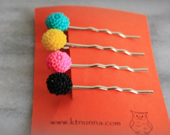 Mini Flower Bobby Pin Set. Girls, Womens Hair Accessories, Hair pin, Gift by ktnunna
