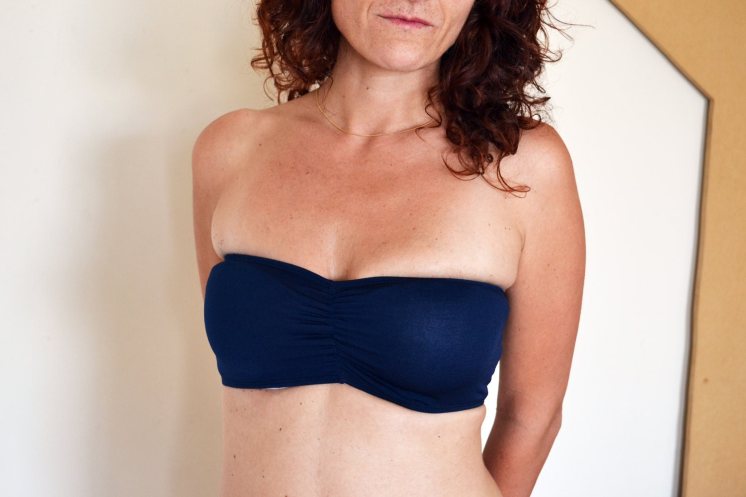 Navy Blue Tube Top Navy Blue Bandeau Matching Top For Infinity